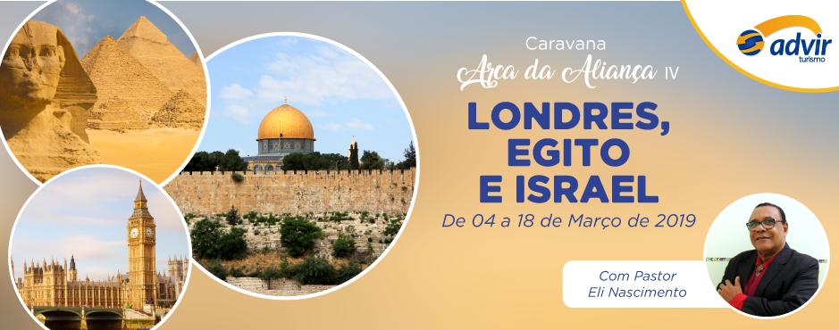 Londres, Egito e Israel – Março 2019