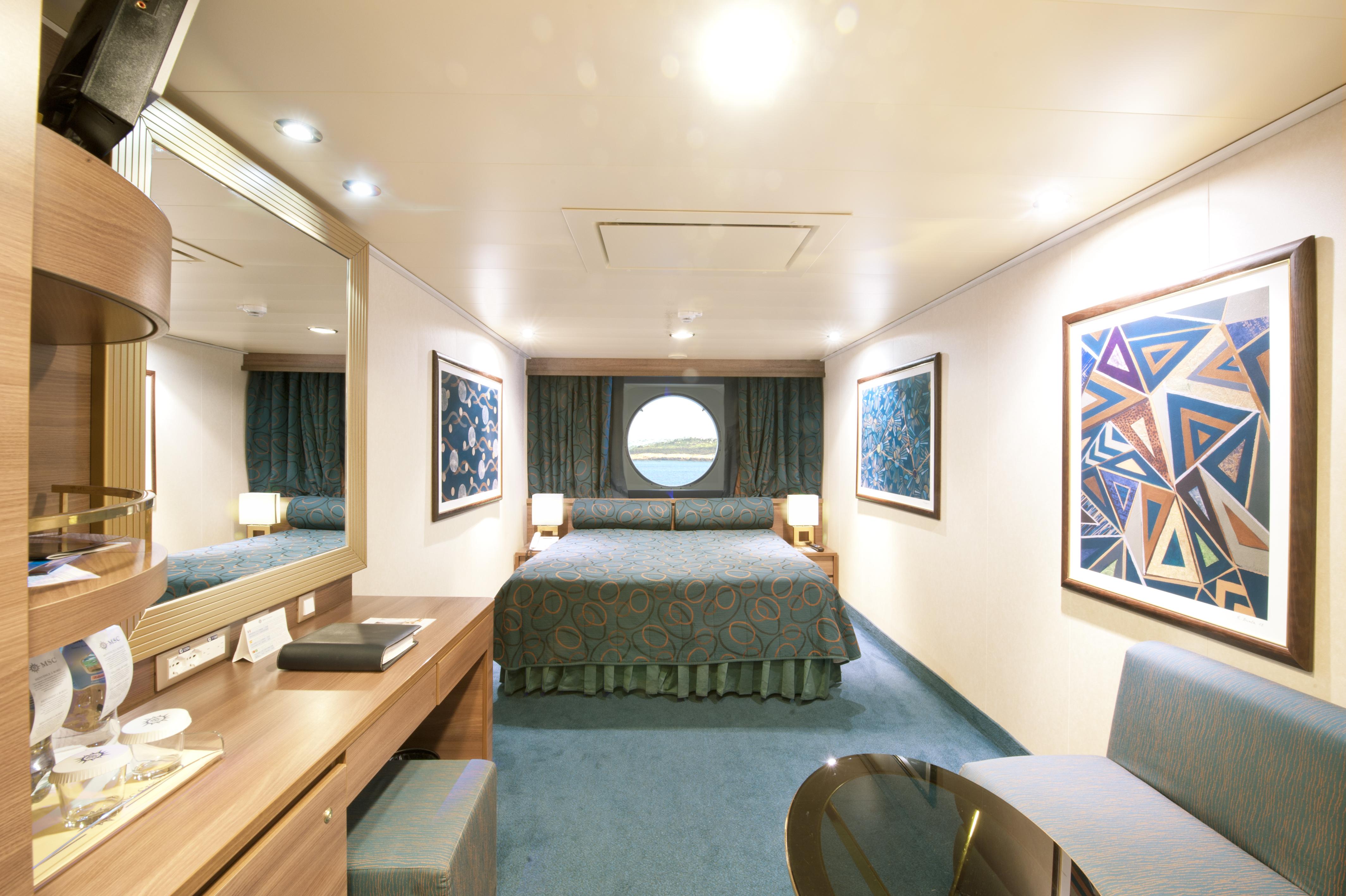 MSC Fantasia- Cabine dupla com vista para o mar